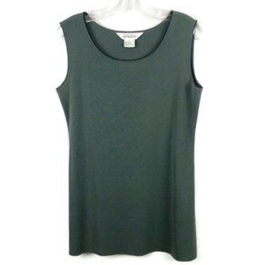 Exclusively Misook Green Shell Tank size Small